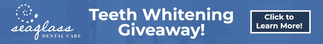 Banner for a Teeth Whitening Giveaway.