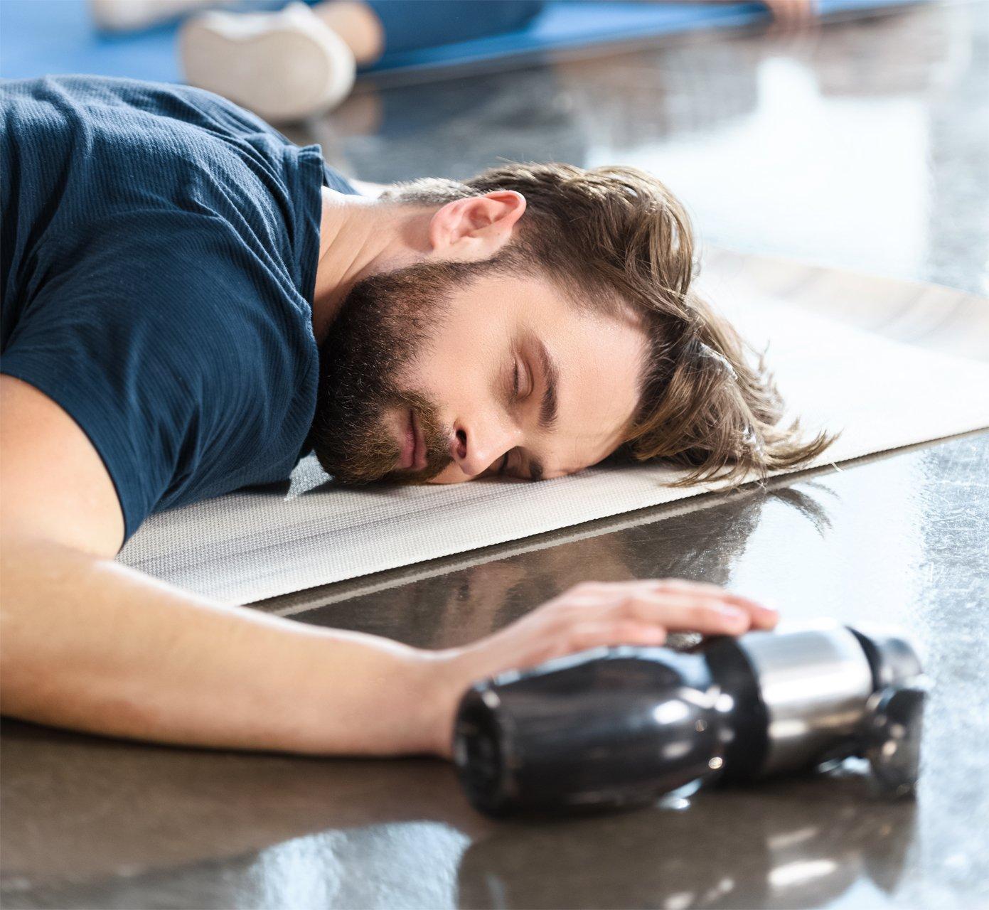 Athlete very sleepy on the ground, due to sleep apnea